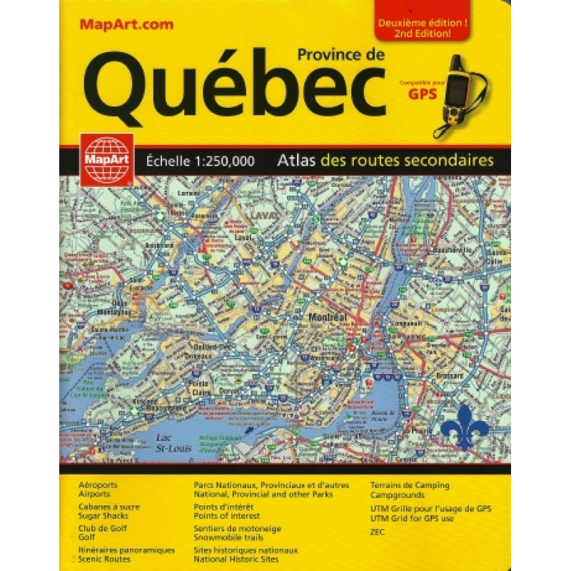 on quebec snowmobile trail map
