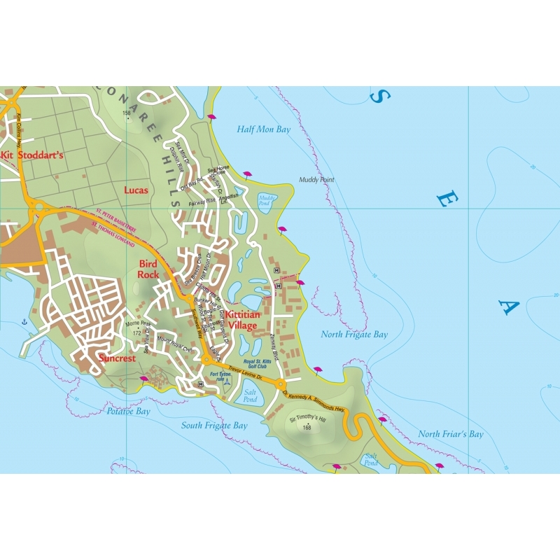 ST. KITTS (ST. CHRISTOPHER) AND NEVIS - Kasprowski map - Our ...