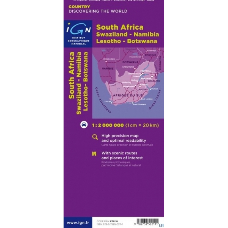 Carte Ign Afrique Du Sud.Afrique Du Sud Swaziland Lesotho Namibie Et Botswana