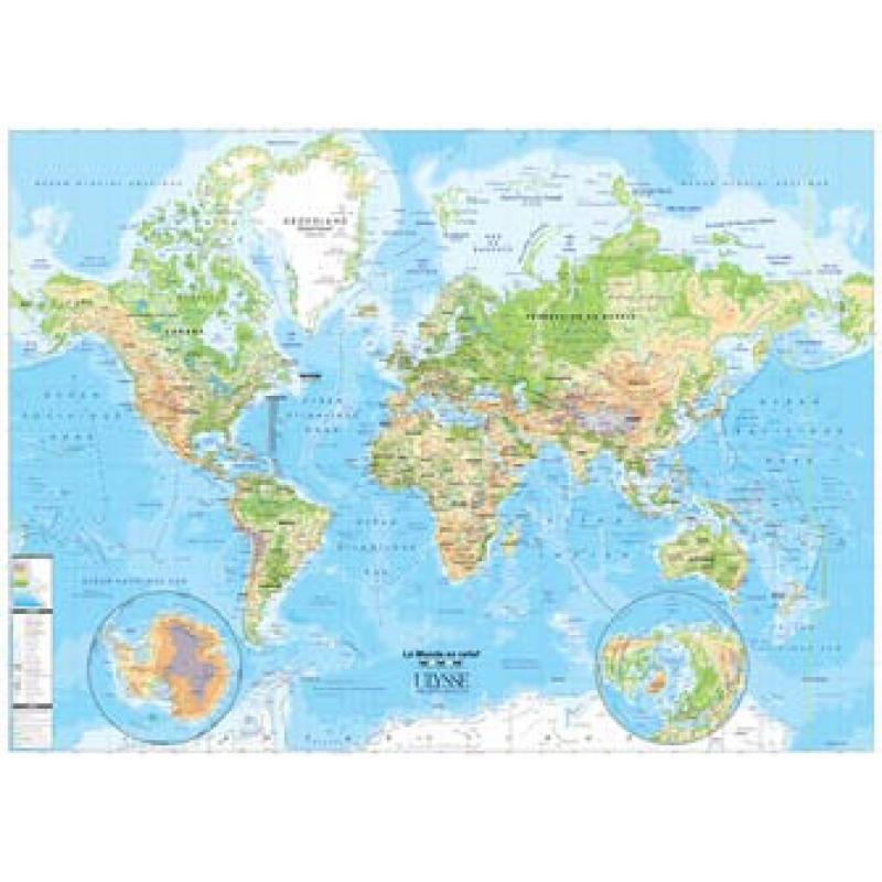 Carte Du Monde Plastifiee.Carte Physique Du Monde Plastifiee Nos Produits Aux Quatre